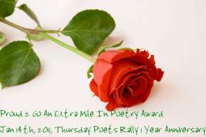Proud 2 Go an Extra Mile In Poetry Award